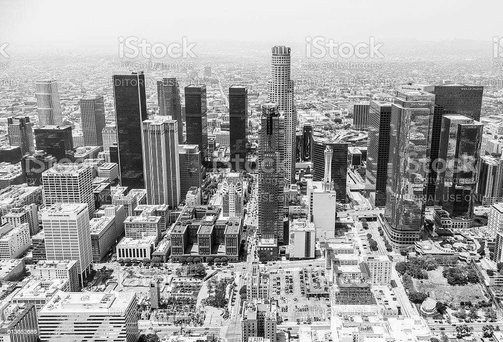 Monochrome DTLA Skyline stock photo