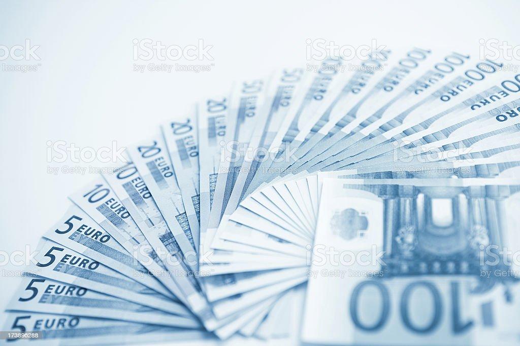 Monochrome european currency royalty-free stock photo