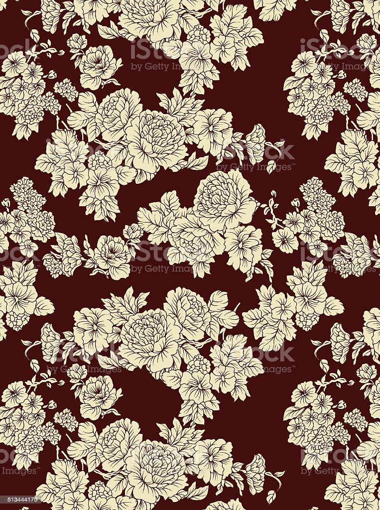 monochrome flower pattern stock photo