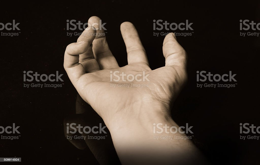 Monochrome Hand stock photo