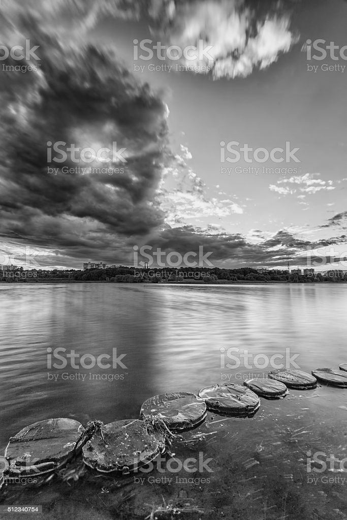Monochrome landscape stock photo
