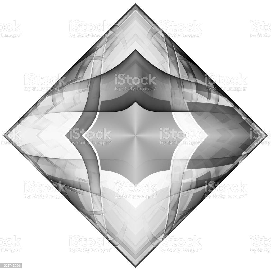Monochrome pattern fractal background stock photo