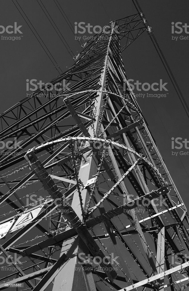 Monochrome Pylon stock photo