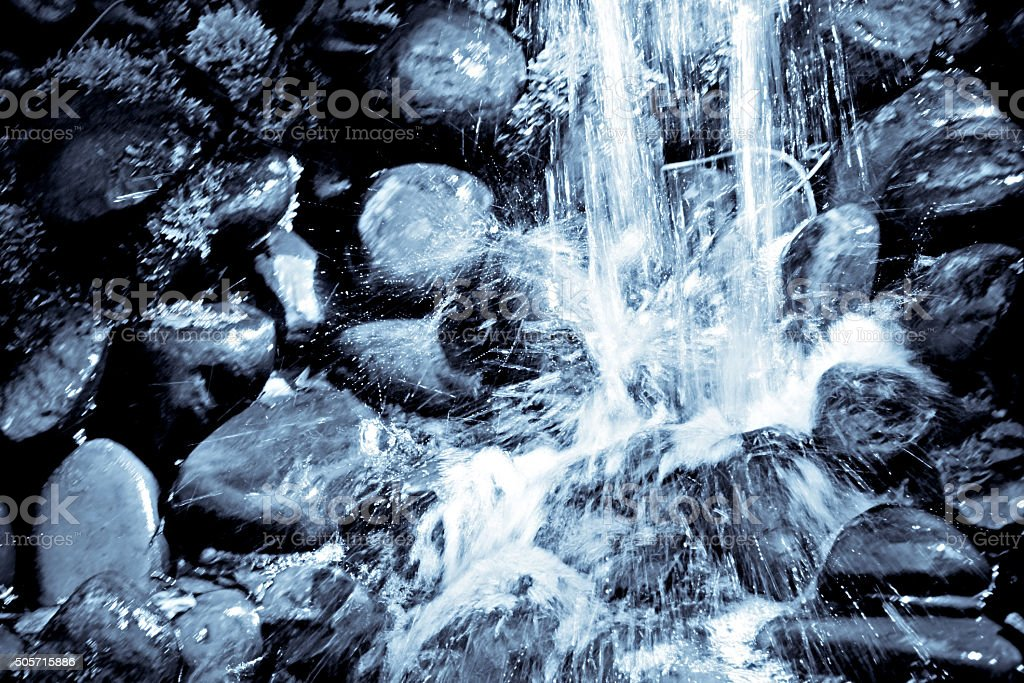 Monochrome waterfall background stock photo