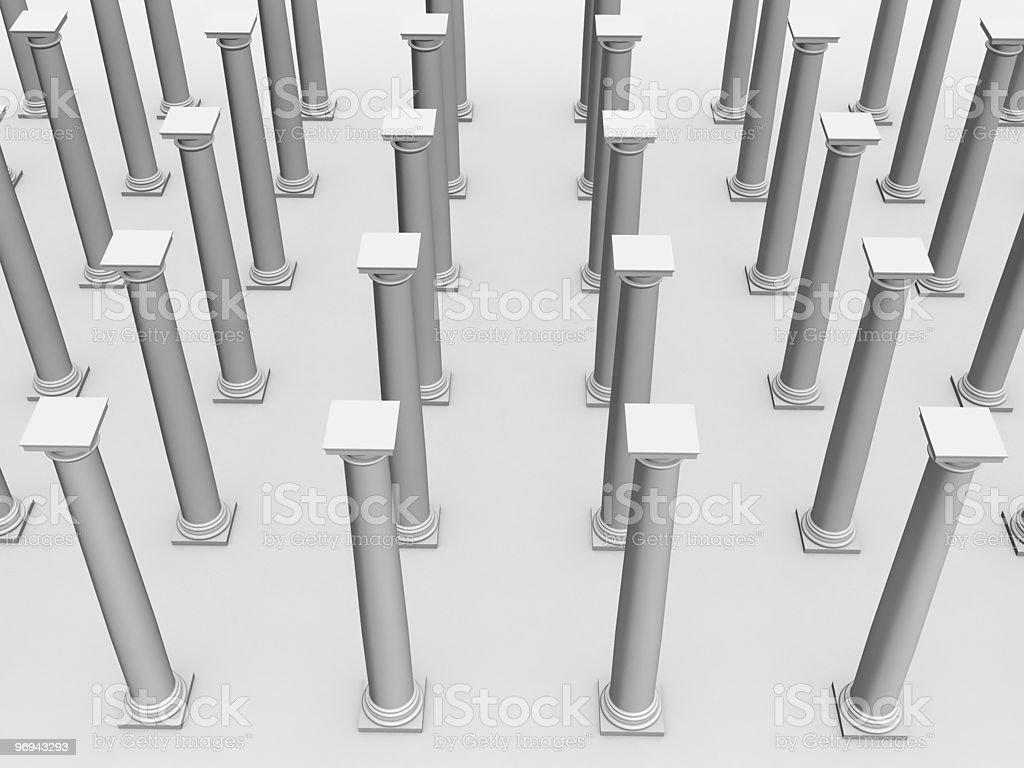 monochromic image of classic columns royalty-free stock photo