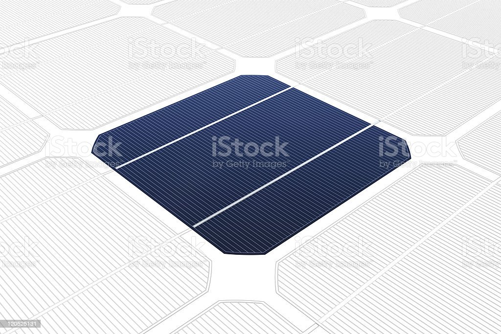 mono-crystalline solar cell against a drawing royalty-free stock vector art