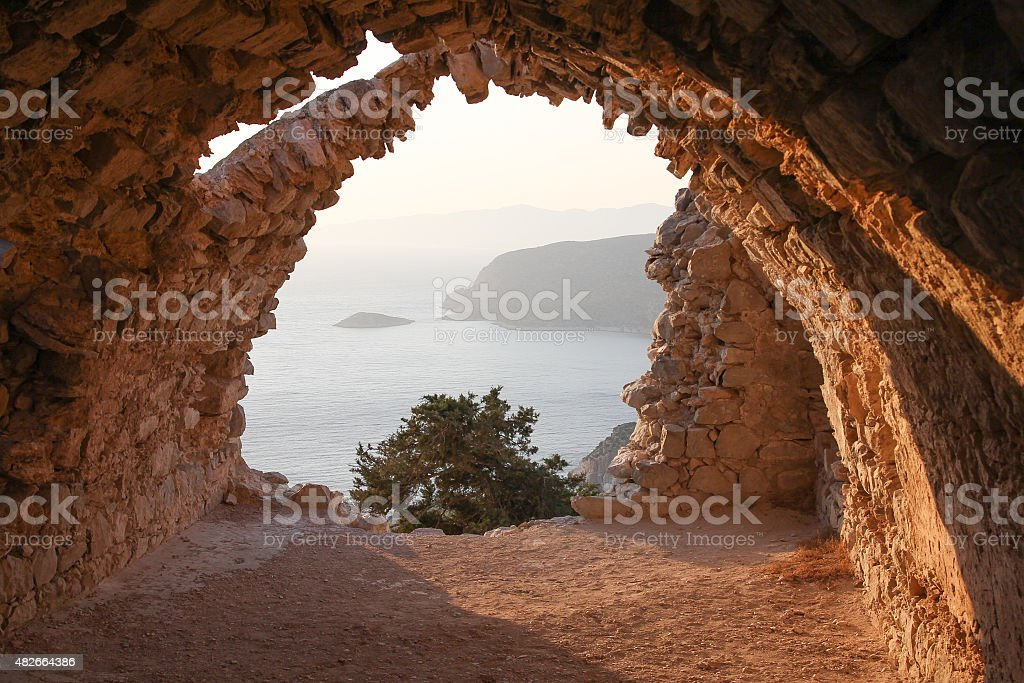 Monolithos royalty-free stock photo