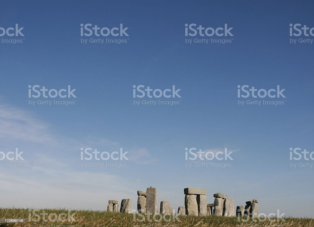 Monoliths of Stonehenge from a different perspective royalty-free stock photo