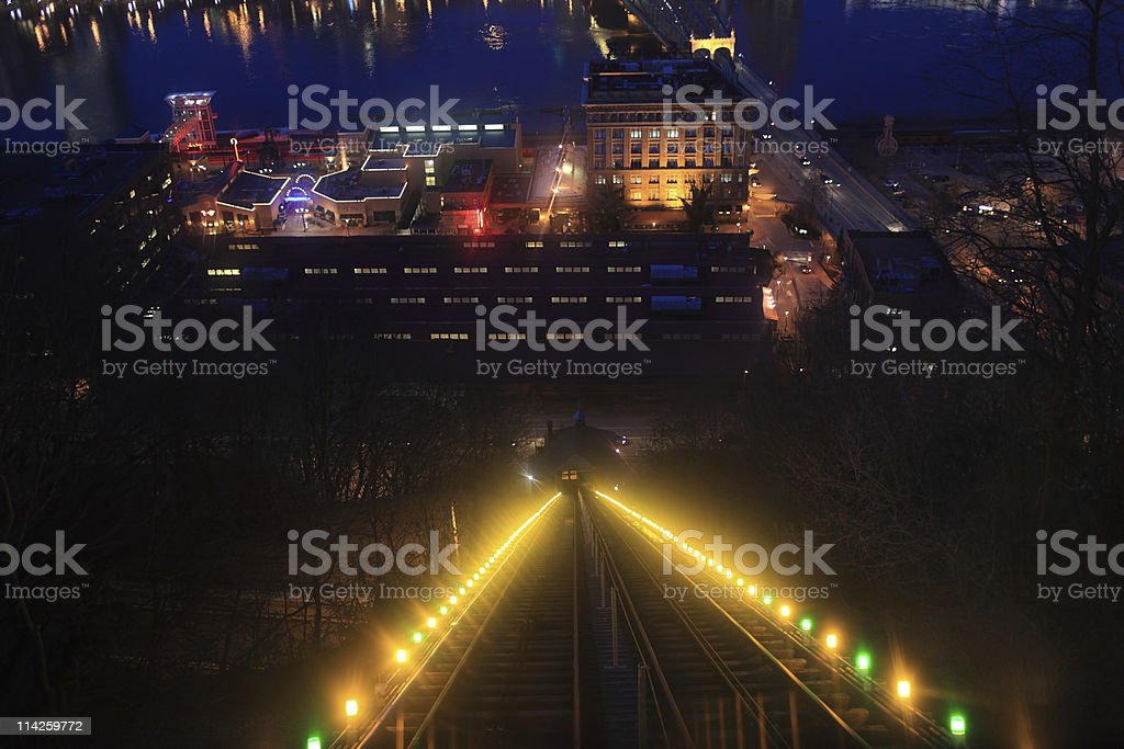Monongahela Incline in Pittsburgh stock photo