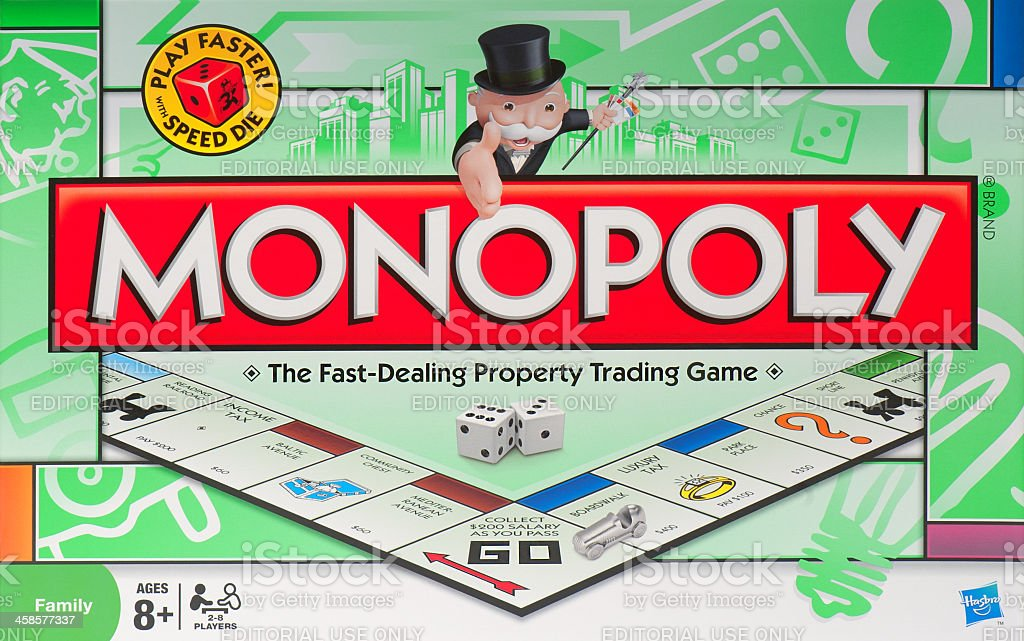 Monopoly Board Game Box stock photo