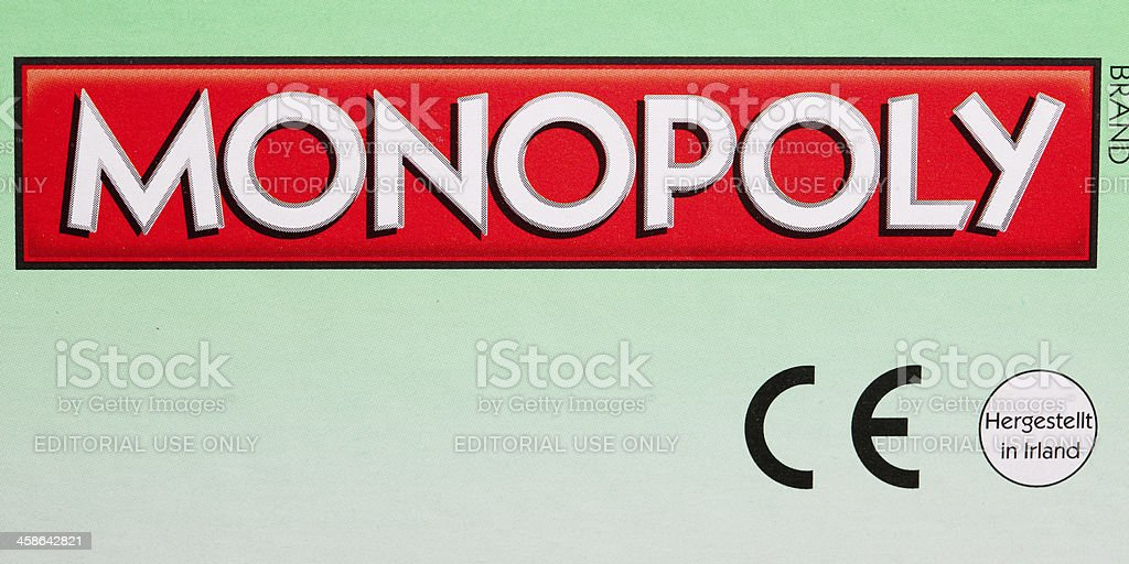 Monopoly brand lettering on box royalty-free stock photo
