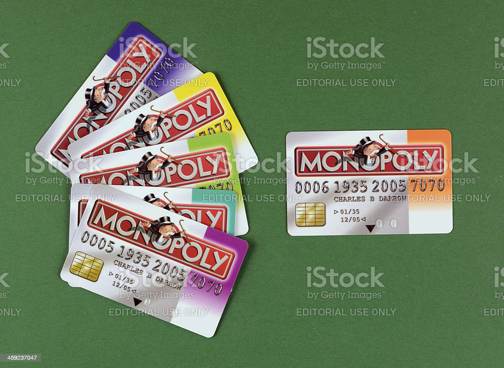 Monopoly - Credit Cards royalty-free stock photo