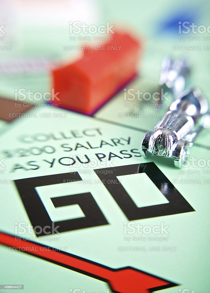 Monopoly Game Board royalty-free stock photo