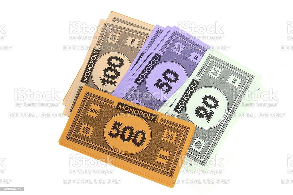 Monopoly game money stock photo