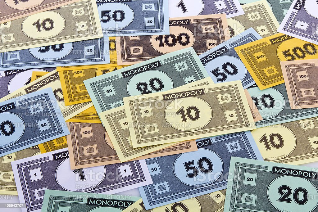 Monopoly game money royalty-free stock photo