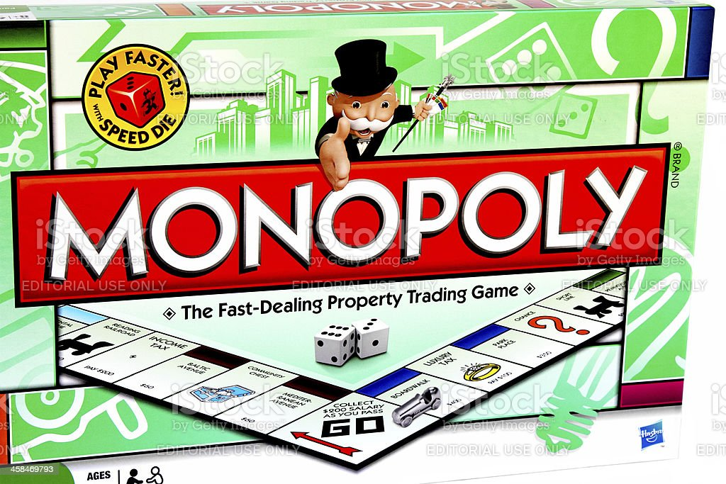 Monopoly game stock photo