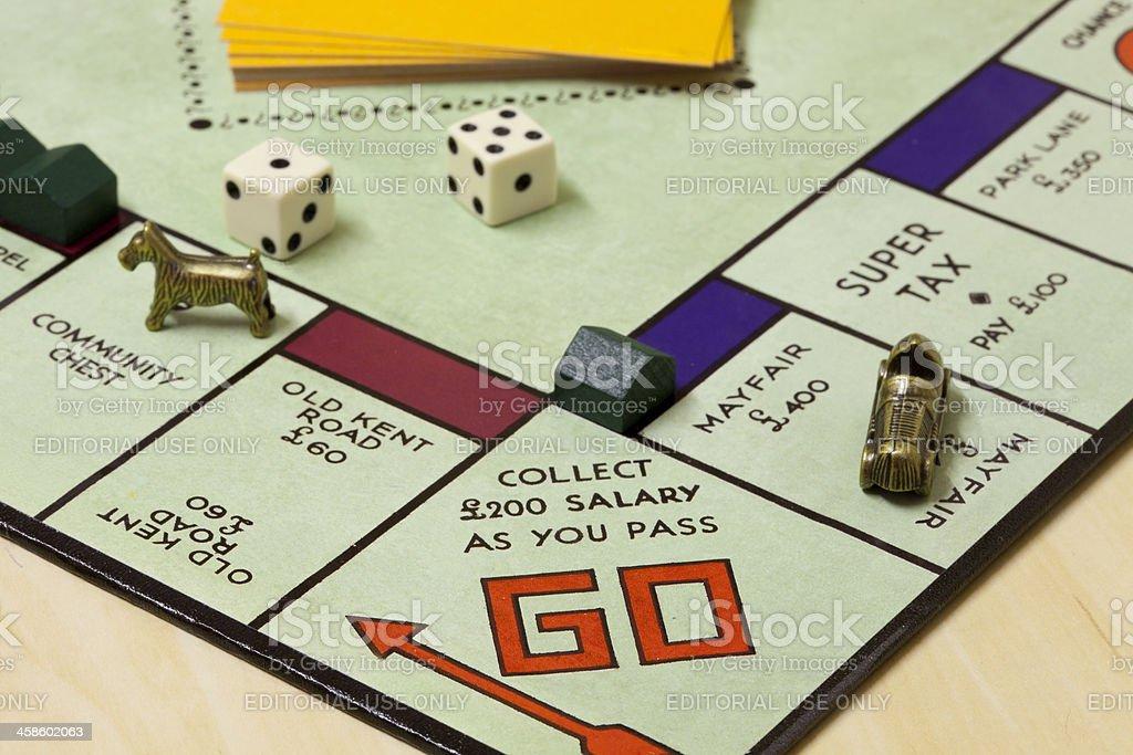 Monopoly Game royalty-free stock photo