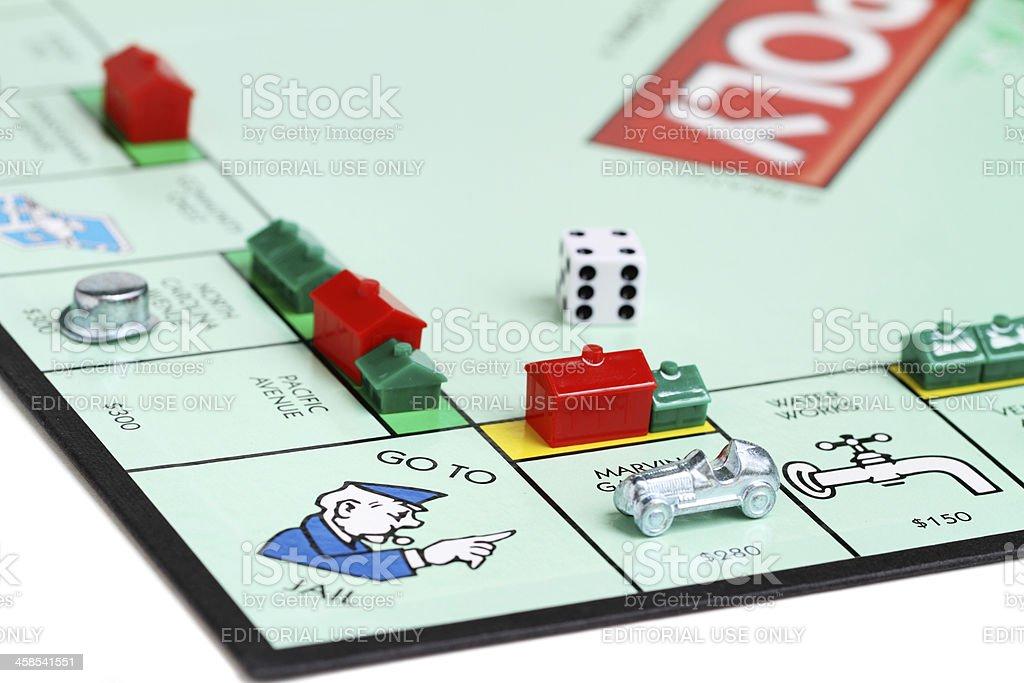 Monopoly Go to Jail stock photo