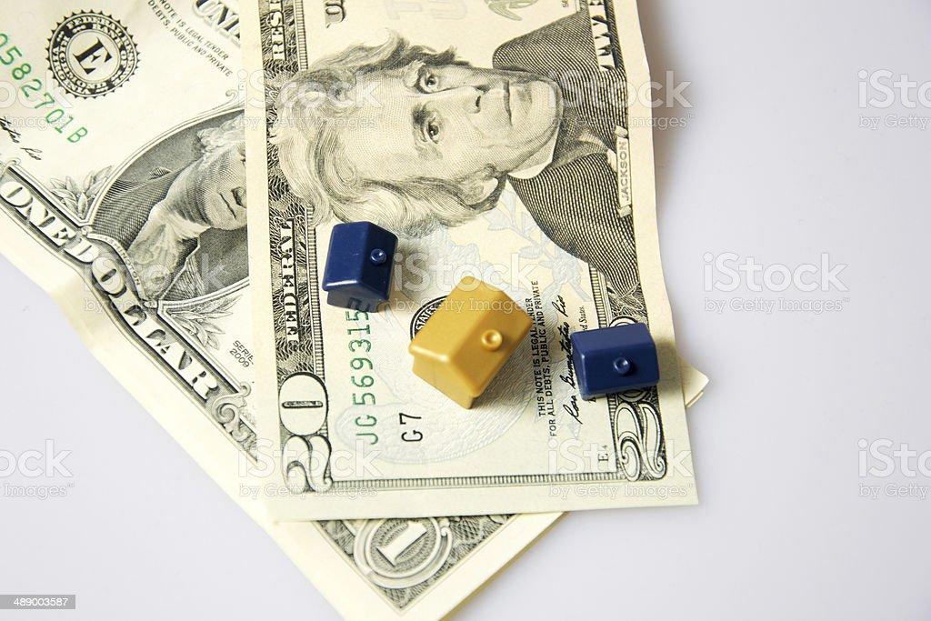Monopoly house stock photo