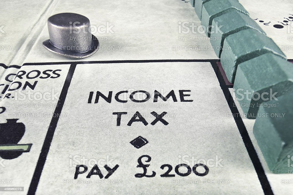 Monopoly - Income Tax (Real estate) royalty-free stock photo