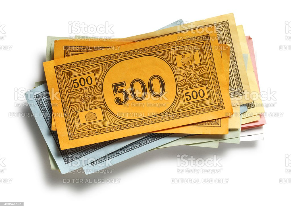 Monopoly Money stock photo