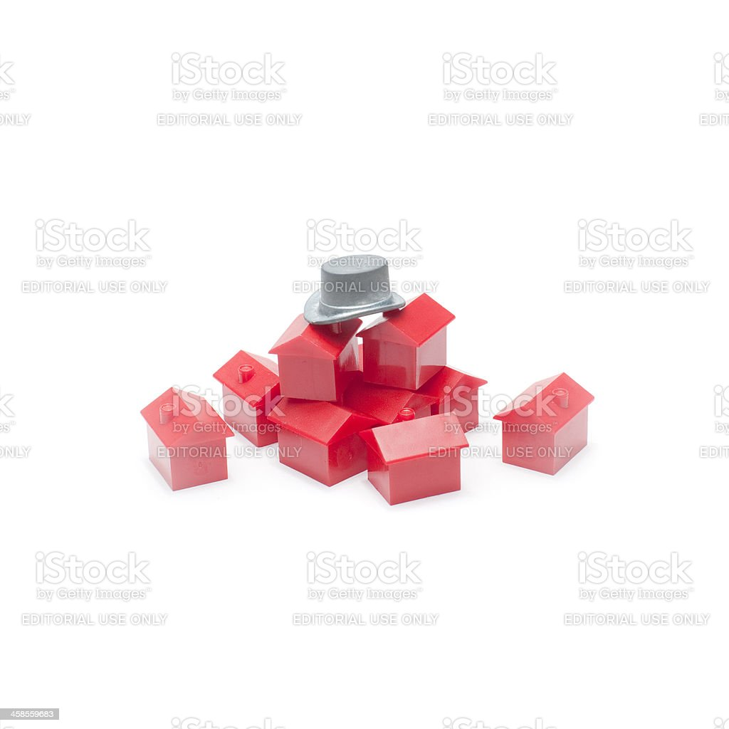 Monopoly Pieces royalty-free stock photo