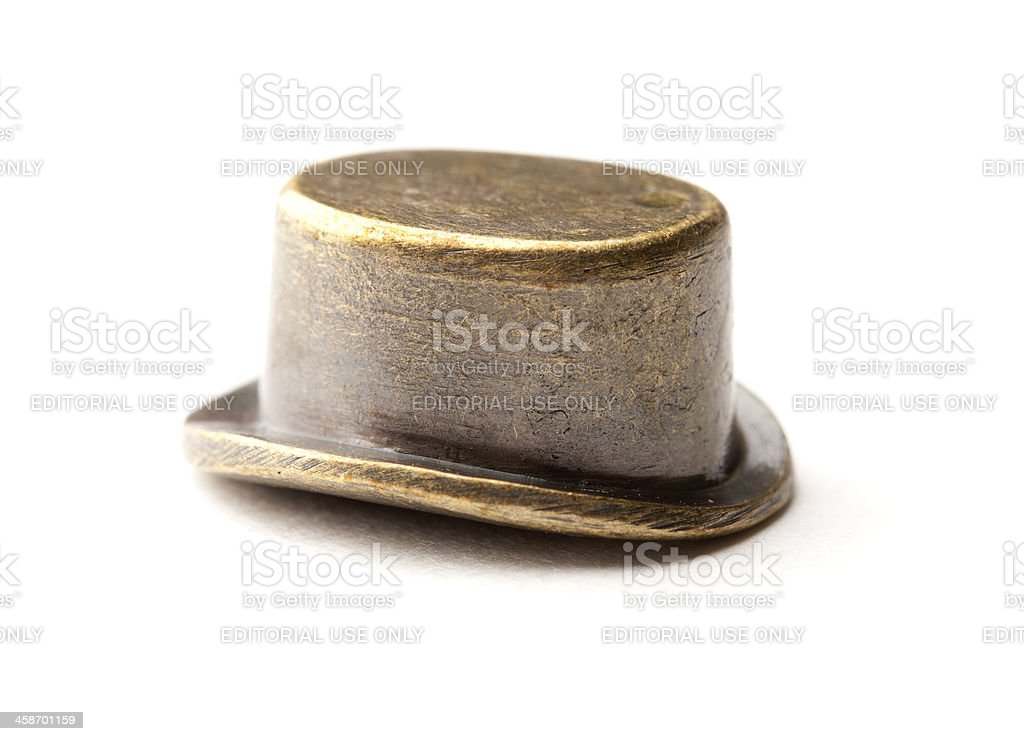 Monopoly Top Hat Game Piece stock photo