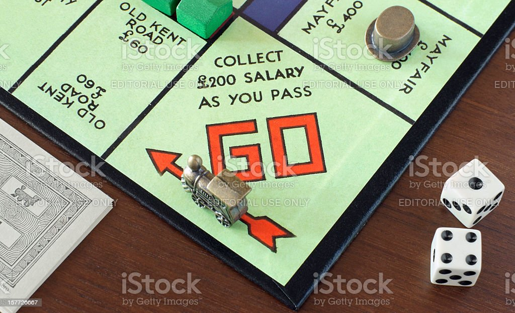 Monopoly's GO! royalty-free stock photo