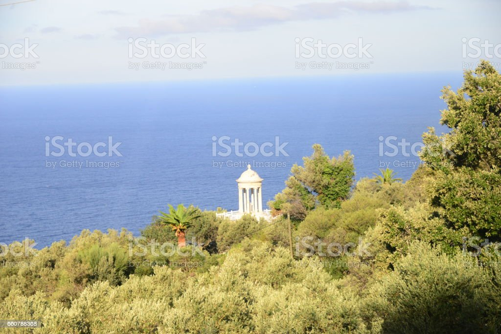 Monopteros / Residencia Miramar - Mallorca - Spanien stock photo