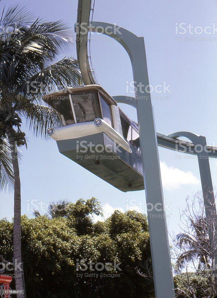 monorail 1968 stock photo