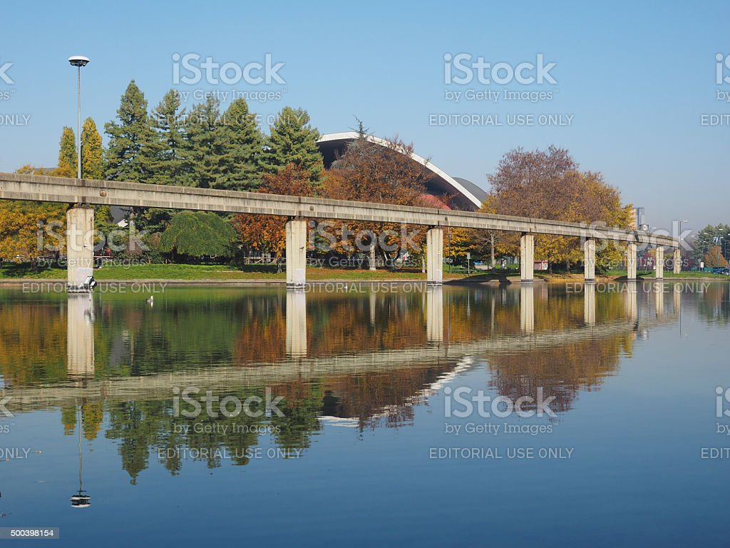 Monorail at Italia 61 in Turin, Italy stock photo