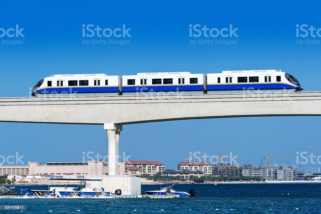 Monorail in Dubai, United Arab Emirates stock photo