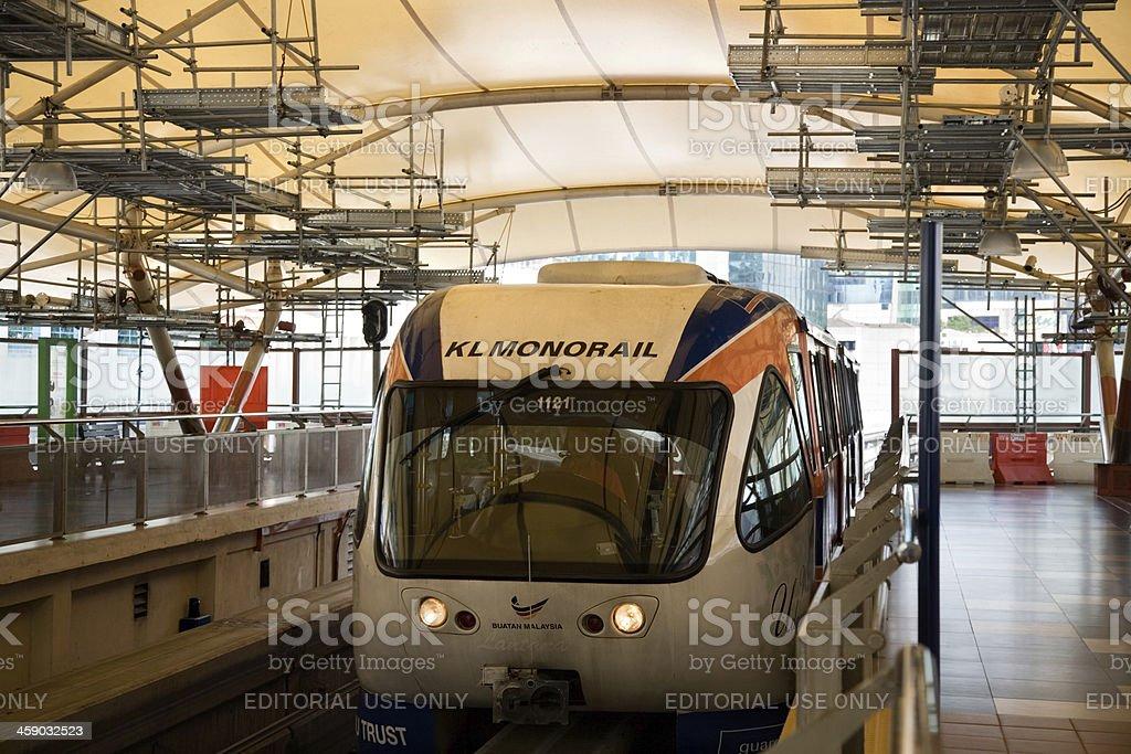 Monorail in Kuala Lumpur Malaysia royalty-free stock photo