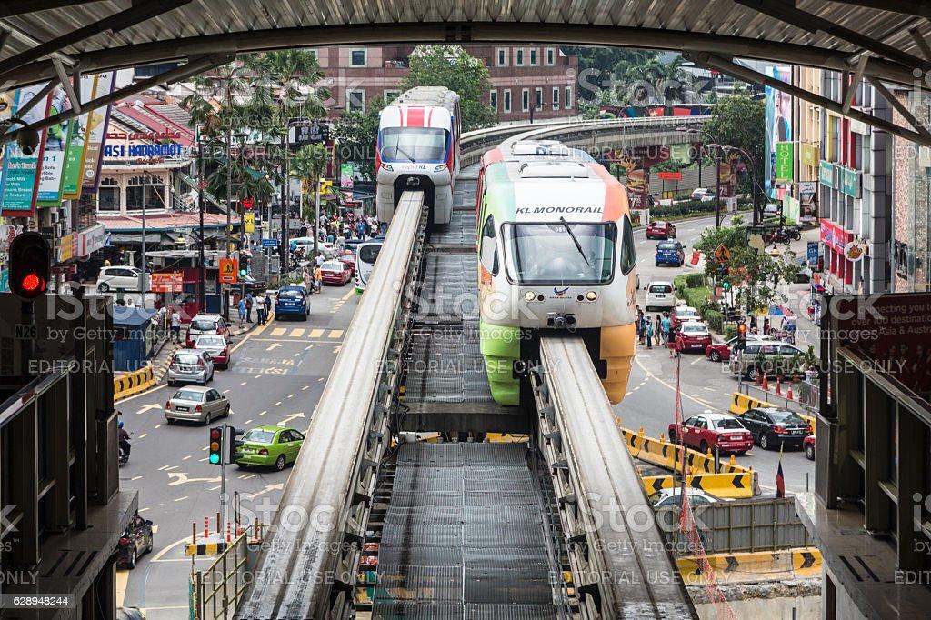 Monorail in Kuala Lumpur, Malaysia stock photo