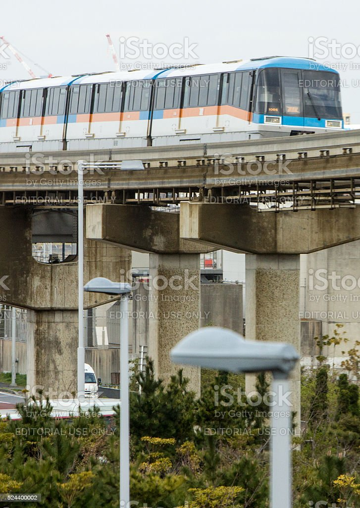 Monorail in Tokyo, Japan stock photo
