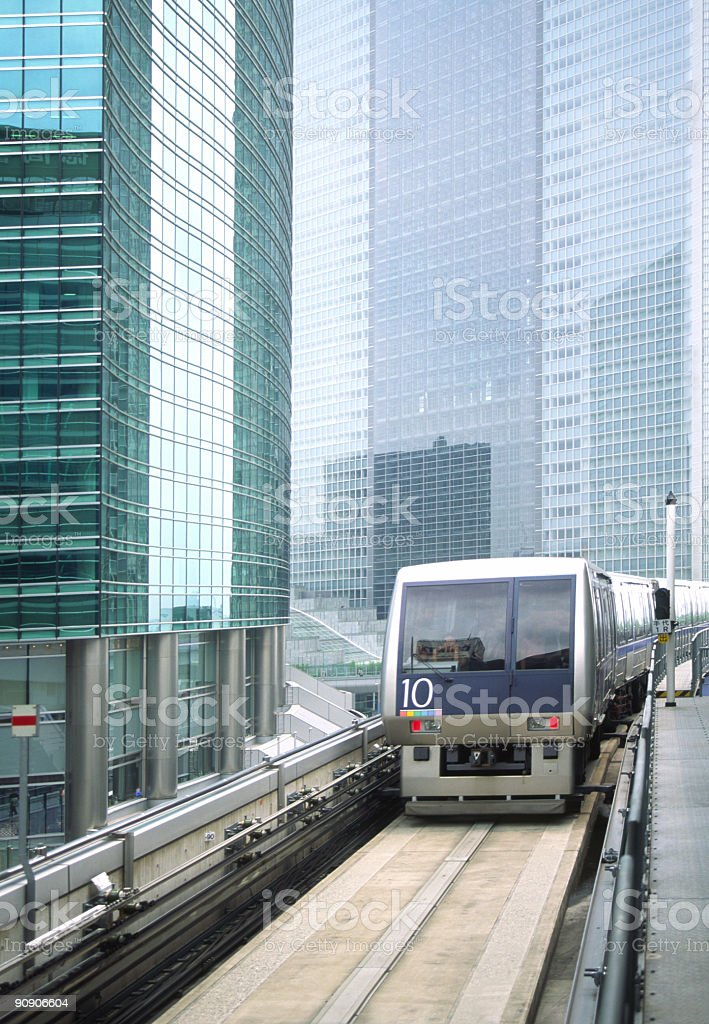 Monorail in Tokyo royalty-free stock photo