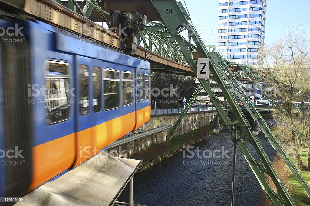 Monorail in Wuppertal royalty-free stock photo