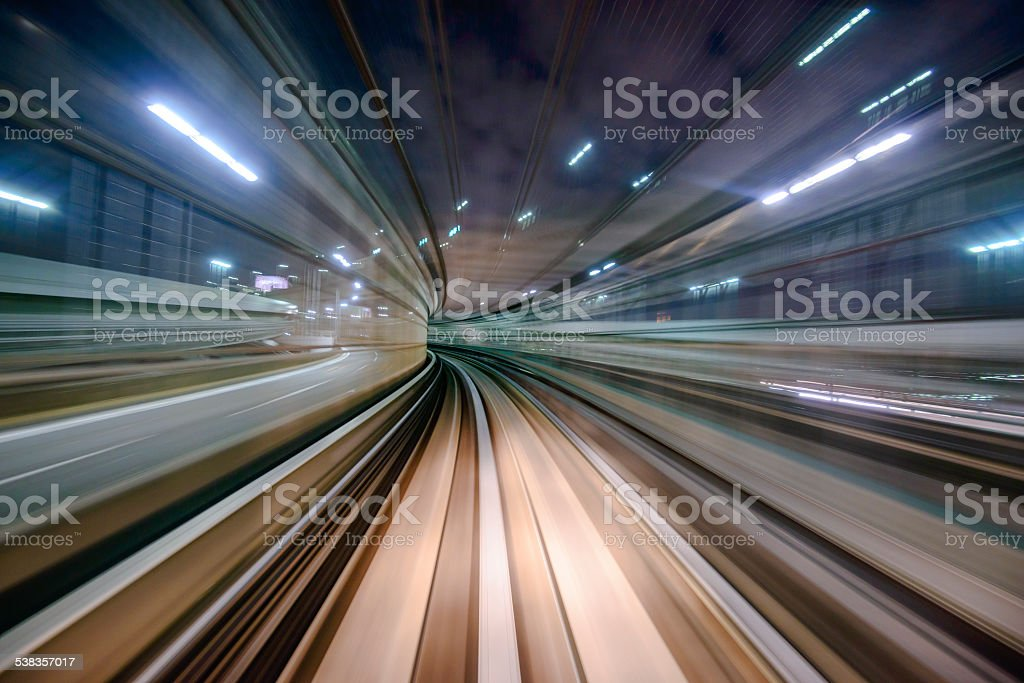 Monorail Motion Blur stock photo