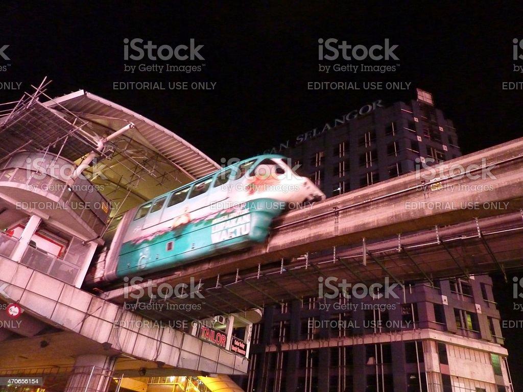 Monorail over Bukit Bintang, Kuala Lumpur Malaysia stock photo