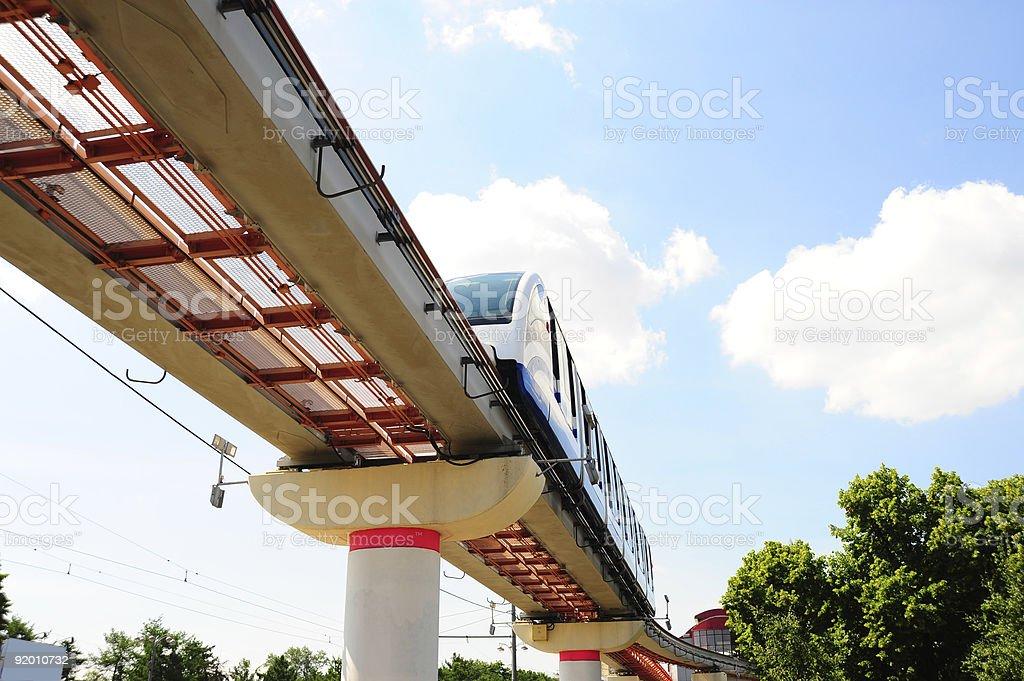 Monorail royalty-free stock photo