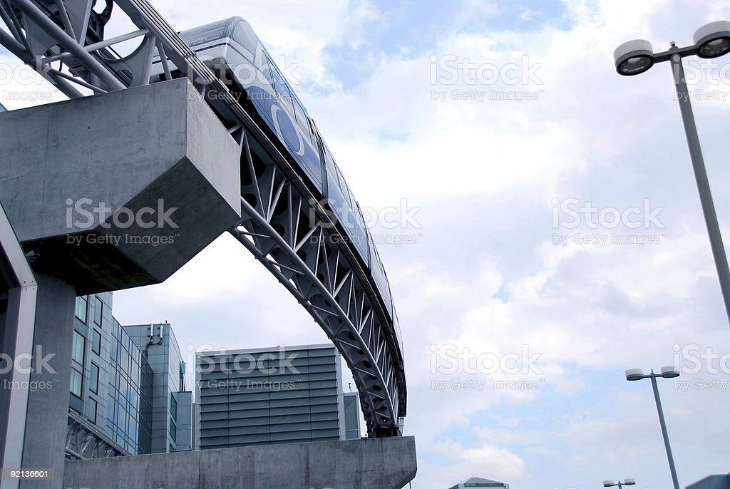 Monorail royalty-free stock photo