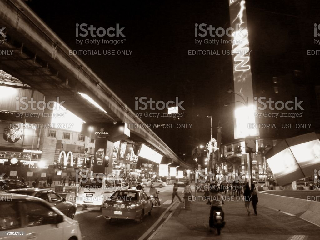 Monorail track on Bukit Bintang, Kuala Lumpur Malaysia stock photo