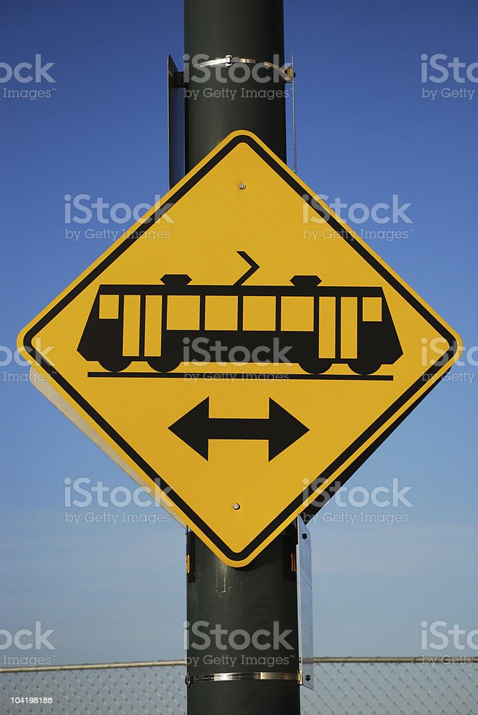 Monorail Traffic Sign stock photo