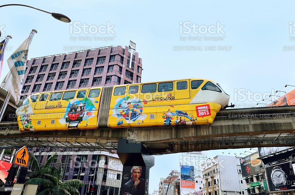 Monorail train in Kuala Lumpur,Malaysia stock photo
