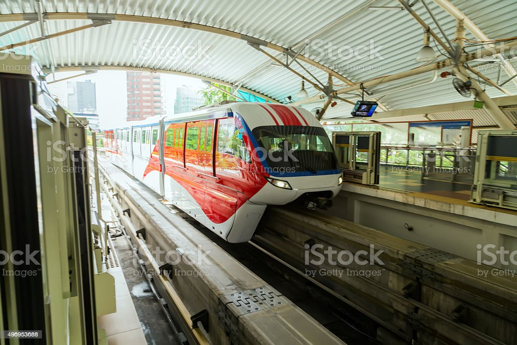 Monorail train stock photo