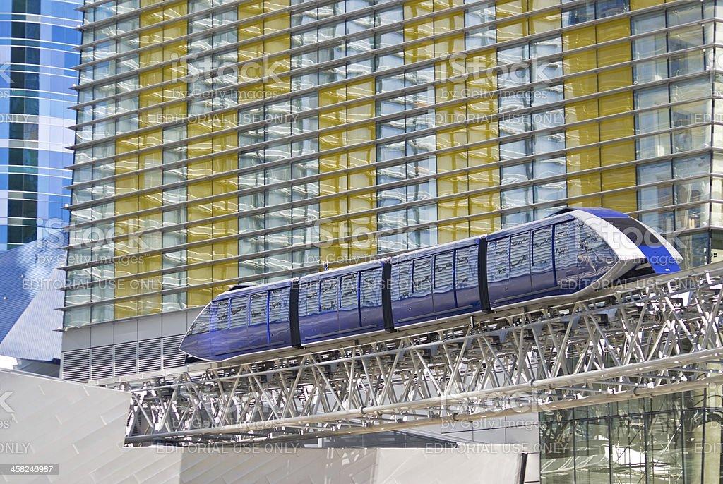 Monorail Tram at CityCenter stock photo