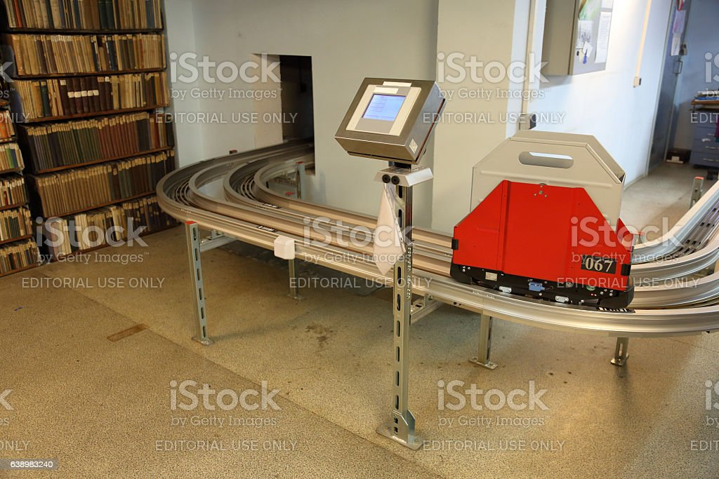 Monorail transport system stock photo
