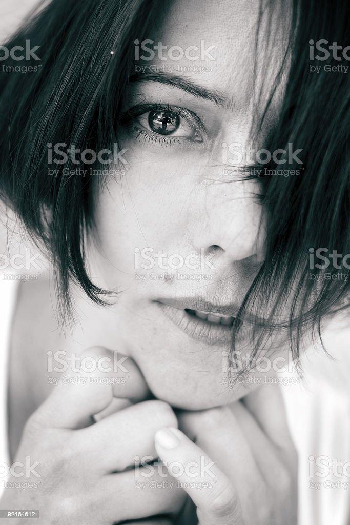 Monotone Doubt stock photo