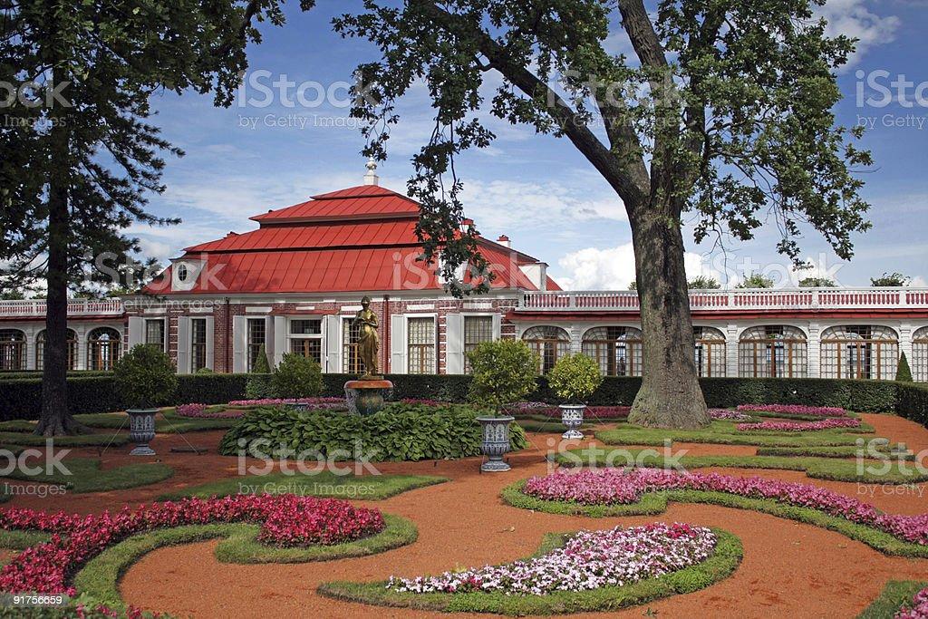 monplezier park palace st.petersburg royalty-free stock photo