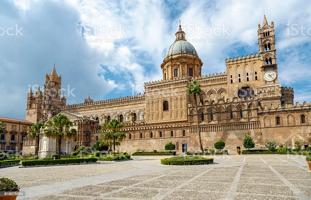 Monreale Cathedral Palermo, Sicily, Italy stock photo